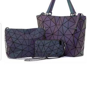 Purple set of 3 purses